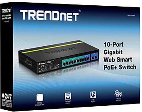 Trendnet TPE-1020WS 10 Gigabit Port Web Smart PoE+ Switch