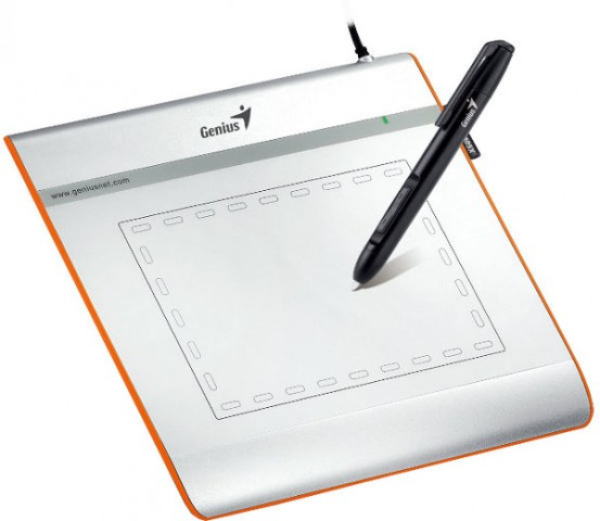Genius i405X Cordless Drawing Graphics Input Tablet Pen