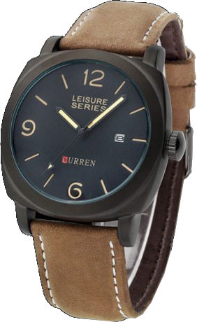 Curren leisure leather belt stylish analog watch with date price bangladesh bdstall Curren leisure style fashion watch price