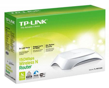 TP-Link TL-WR720N 150 Mbps 5dBi Antenna 2-LAN Wi-Fi Router
