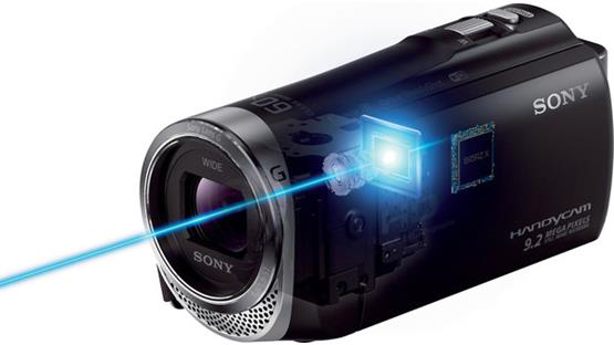 Sony Camcorder HD Video 30x Zoom Wi-Fi & NFC HDR-CX330