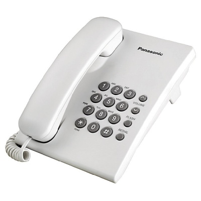Panasonic Telephone KX-TS500 Basic Landline Corded  Set
