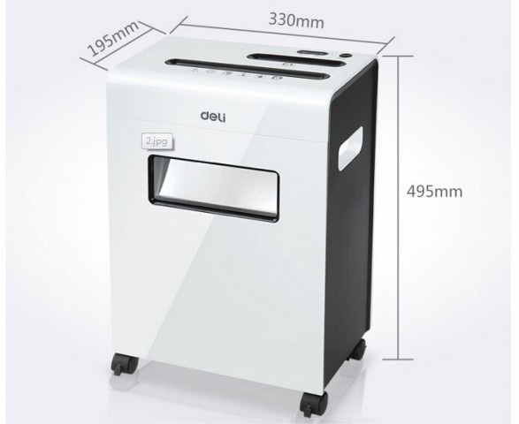 Deli 9911 Paper Shredder Cross Cut Machine 8 Sheets 230MM