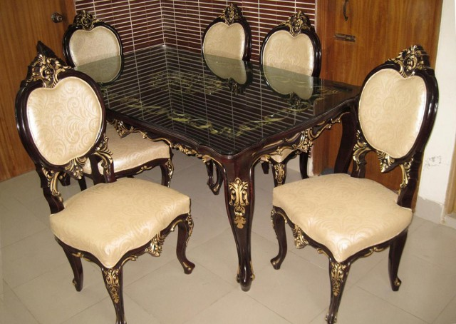 Tristar Dishing Dining Table Furniture 6 Pieces Set DL44F