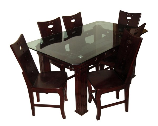 Modern Dining Table Glass Top Mdf Koroi Wood Furniture Dl32f Price