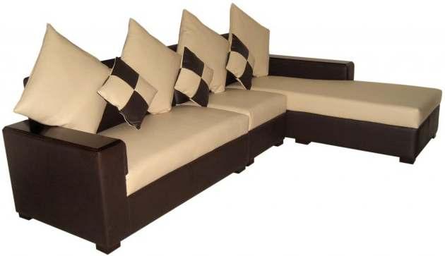 Sofa Set L Shaped 6 Leather Seat Solid Foam Furniture Price