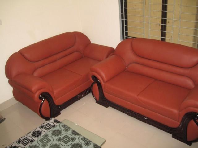 Sofa set quality wood leather foam stylish furniture
