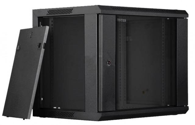 Toten 9U Rack Mount Server Cabinet Glass Door WM.6409.7101
