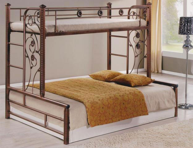 Twin Over Full Bunk Bed Home Space Saving Guardrails Bbed048