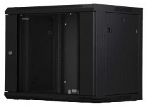Toten 9U Server Rack Cabinet Tempered Glass Front Door 2-Fan