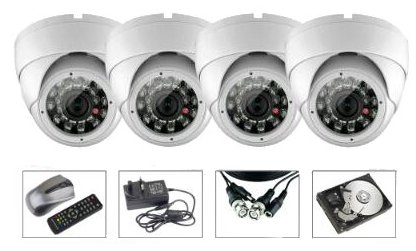 CCTV Package Hikvision HD DVR 4 Channel 500GB HDD 4 Camera