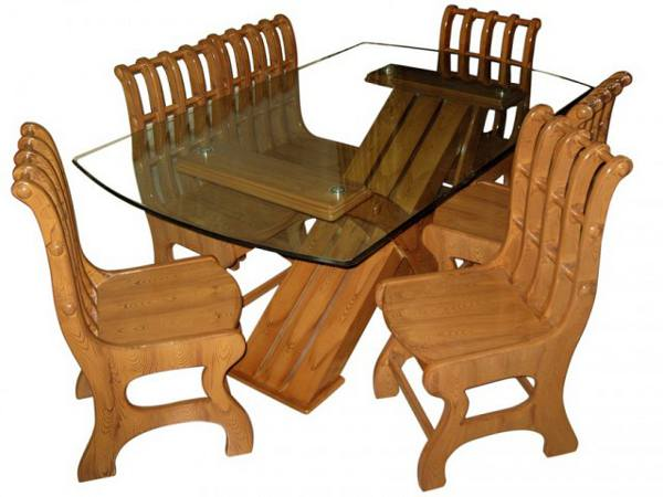 Modern dining table set chair furniture mdf wood dl f