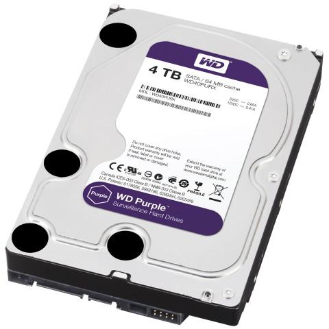 Western Digital WD40PURX Purple Surveillance 4TB Hard Disk
