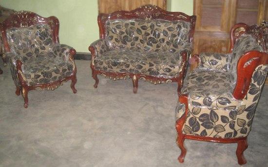 Modern Sofa Set Quality Fabric Mahogany Wood Furniture Sl31f Price