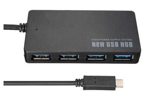 USB Super Speed Hub 3.1 Type C to 4 Port USB 3.0 Converter