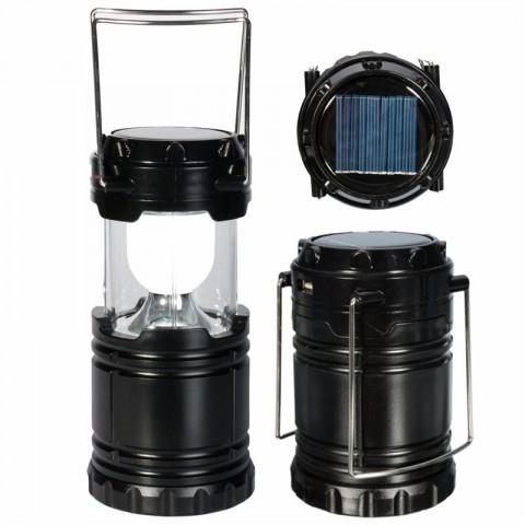 Solar Rechargable Camping Lantern 6 LED Portable Light