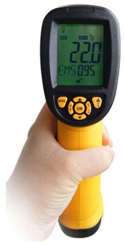 Digital Infrared Laser Thermometer LCD Display AS872