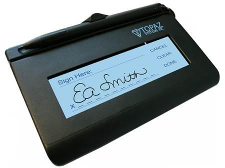 Topaz SigLite LCD 1x5 Electronic Signature Capture Pad