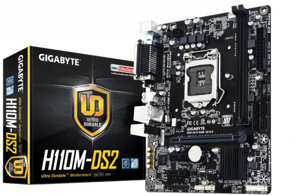Gigabyte GA-H110M DS2V WP DDR4 6th Gen Motherboard