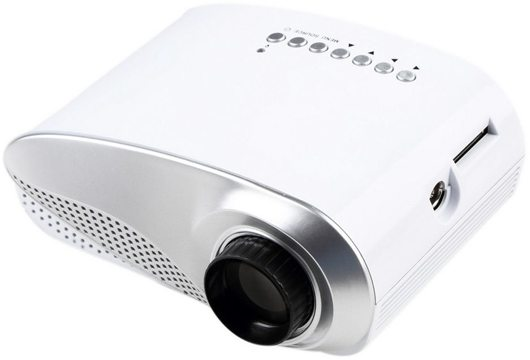 Rigal RD802 Portable Video Projector with Built-In TV Port