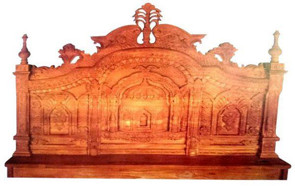 Al Modina AMFB 5 Bed Brown Furniture Solid Shegun Wood