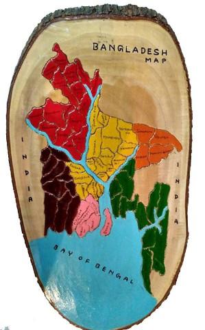 Beautiful Bangladesh Map In Mahogany Wood Price Bangladesh