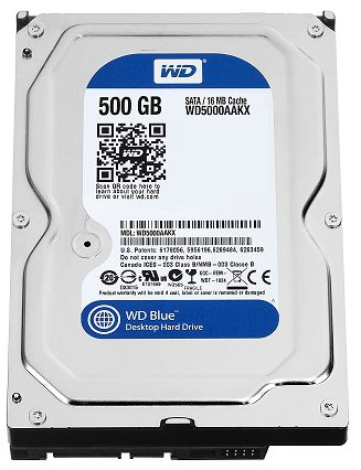 Western Digital WD Blue WD5000AAKX 500GB 7200RPM PC HDD (1350)