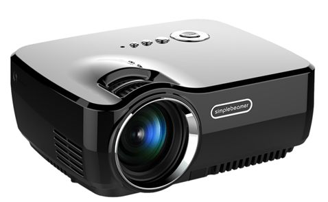 ViviBright GP70 Mini LED 1200 Lumens 3D TV Projector