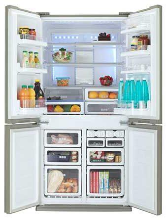 Sharp SJ-FS79V-BK Digital Touch 678L 4 Door Refrigerator