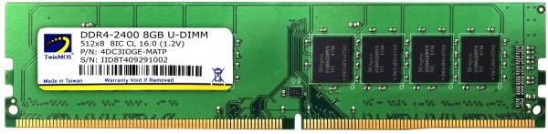 Twinmos 4GB Capacity DDR4 2400 MHz BUS Desktop RAM