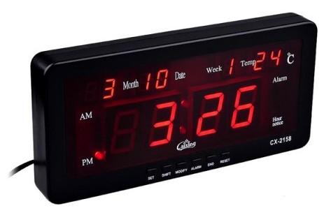 Casio Cx 2158 Digital Led Display Wall Mount Alarm Clock