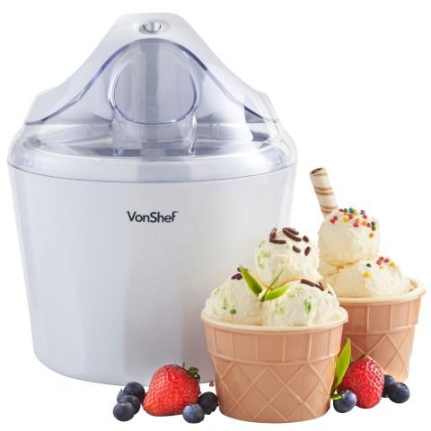 VonShef 1.5 Liter Left / Right Motion Motor Ice Cream Maker