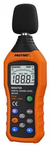 Protmex MS6708 Handheld Industrial Digital Sound Level Meter