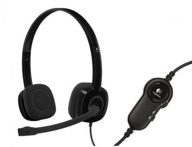 Logitech H151 3.5 mm Analog Stereo Headset With Microphone