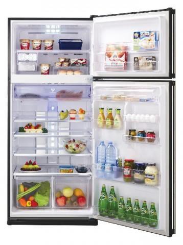 Sharp SJ-PD54P-BK 541 Liter Glass Door Hybrid Refrigerator