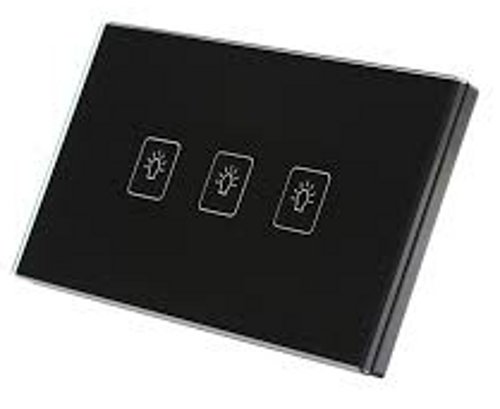 Makerele MKUS-3 Crystal Glass Panel Touch Gang Switch