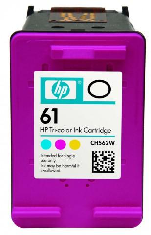 HP 61 Color 450 Page Yield Inkjet Printer Cartridge