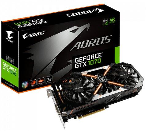 Aorus GeForce GTX-1070 8GB GDDR5X Gaming Graphics Card
