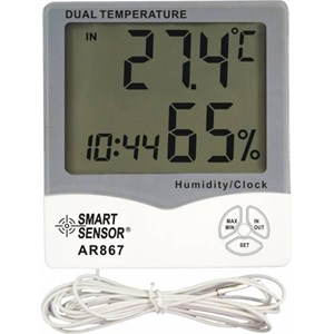 Smart Sensor AR867 Mini Digital Humidity Temperature Meter