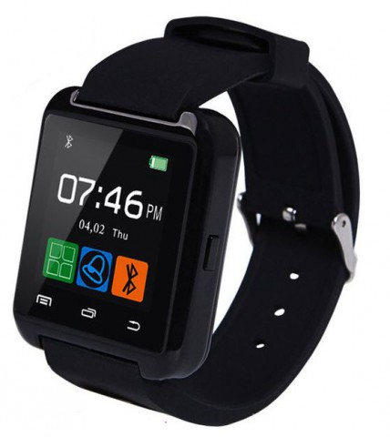 Carbon U8 SIM Supported 128 MB RAM 1.5 Inch Smart Watch