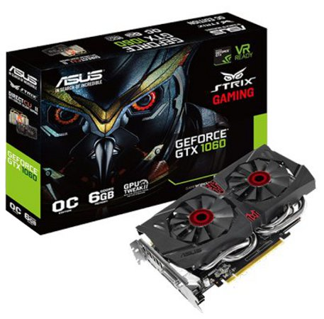 Asus Strix GeForce GTX1060 OC 6GB GDDR5 Graphics Card