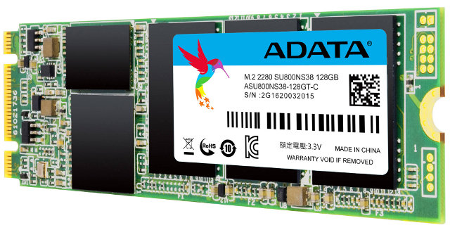 AData SU800 M.2 2280 SATA 128GB 3D NAND Solid State Drive