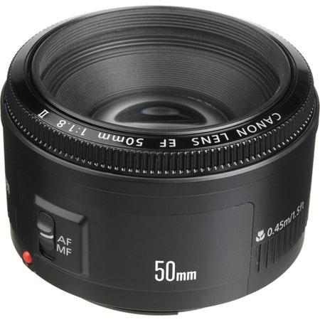 Canon EOS EF 50mm f/1.8 II Prime Lens for DSLR Camera