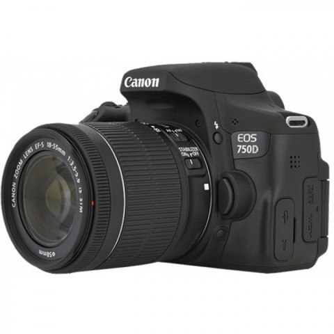 Canon EOS 750D WiFi Digital SLR Camera with 18-55mm Lens