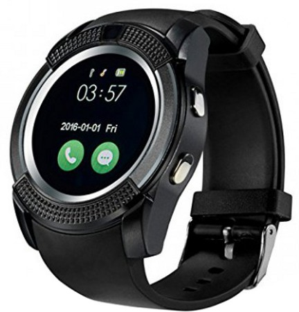 Popular V8 SIM Slot Waterproof Bluetooth Smart Watch