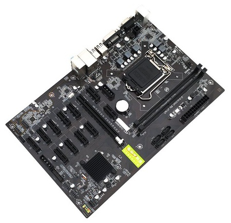 B250 BTC 12P DDR4 DIMM 7th Gen UEFI Motherboard