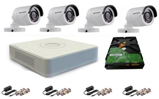 CCTV Package Hikvision 4CH DVR 4Pcs Camera 1TB HDD
