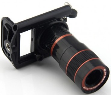 Mobile Telescope Lens 8x Zoom 7 Degree Angle of View