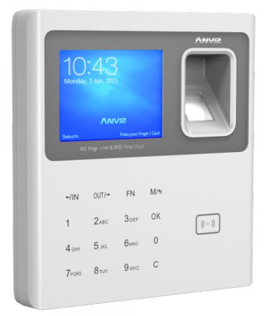 Anviz W1 Fingerprint RFID Card Time Attendance Machine