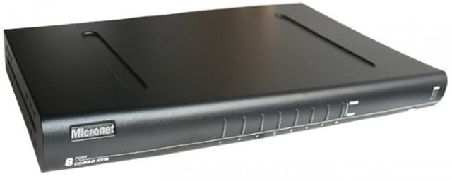 Micronet SP218D 8-Port Multiplatform OS USB IP KVM Switch